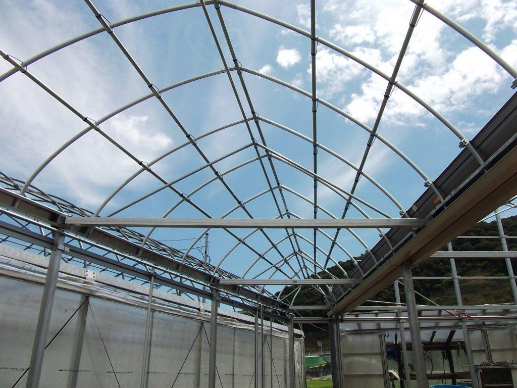 昭和産業の園芸用ハウスの施工例